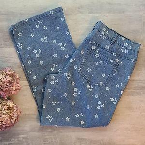 DG2 White Flower Petite  Stretch Jeans